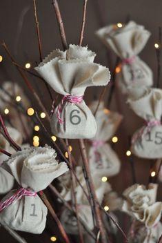 18 DIY Advent Calendars for Your Christmas Countdown Christmas Countdown, Christmas Calendar, Noel Christmas, All Things Christmas, Winter Christmas, Nordic Christmas, Modern Christmas, Xmas, Christmas Stockings