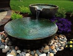 A small fountain enhances backyard relaxation - 6 Top Picks for a Relaxing