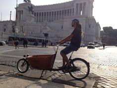 #Cargobike in rome.