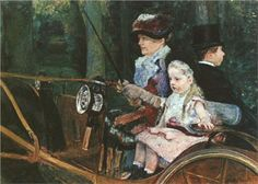 A woman and child in the driving seat - Mary Cassatt