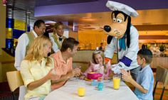 Goofy's Kitchen at the Disneyland Hotel - great fun for kids of all ages! Disneyland, Disney,restaurants, dining,food, Characters, vacation,