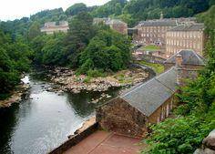 New Lanark Victorian village and mill, visitor attraction.