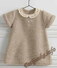 I am looking for a stylish dress for a girl of years I am looking for a stylish dress for a girl of yearsShopping net with adjustable handle - free crochet patternFree knitting patternKnitting patter. Girls Knitted Dress, Knit Baby Dress, Knitted Baby Clothes, Smocked Baby Dresses, Baby Girl Dresses, Dress Girl, Knitting For Kids, Baby Knitting Patterns, Baby Sweaters