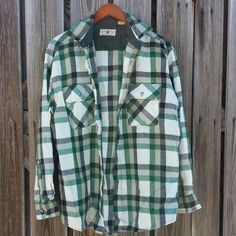 Vintage Men's Flannel Shirt   Green Plaid  by TomieHarleneVintage, $12.99