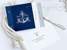 Navy Blue Nautical Wedding invitations for your yacht club or cruise wedding!
