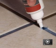 The final step in most ceramic tile projects is to seal the sanded grout. Watch our easy solution in Sixty Simple Seconds.