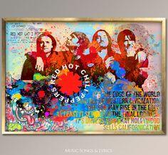 Red Hot Chili Peppers Watercolor digital by MusicSongsAndLyrics