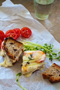 Gourmet Grilled Cheese Recipe: Marinated Mozzarella & Tomatoes on FamilyFreshCooking.com ©Marla Meridith Photography