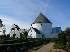 nylars round church.  bornholm, denmark.