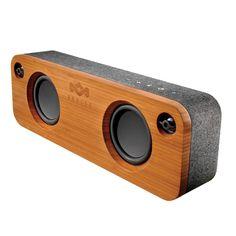 Parlante Premium Portable Bluetooth, Funcionamiento vía Bluetooth o cable Auxiliar, Fabricado con Bamboo Natural, Hasta 8 horas de reproducción inalámbrica, Batería de Litio Recargable, 2 Woofer 3,5