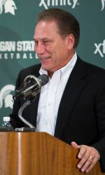On Tuesday afternoon at the Breslin Center, the Michigan State basketball program, ranked No. 2 in the USA Today/Coaches Preseason poll, held its annual media day. Head coach Tom Izzo and his student-athletes spoke with media from across the state to preview the 2013-14 season.