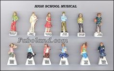 High School Musical 2010 disney porcelain french feves