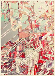 """Galeria - Arte e Arquitetura: """"Cities and Plants"""", Ilustrações de Atelier Olschinsky - 4"""