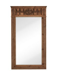 Our featured mirror of the week is this brown wooden traditional mirror with unique textures. ‪#‎traditionaldesign‬ ‪#‎mirrorart‬ http://majesticmirror.com/products/2540-b/