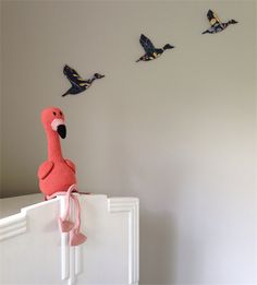 'Floyd' the Flamingo - crochet softie