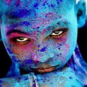 Beautiful eyes shining through.  A wonderful idea/inspiration for portrait style