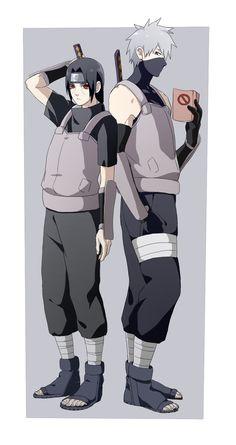 Itachi and Kakashi anbu~hanyuu Kakashi Anbu, Anime Naruto, Naruto Boys, Naruto Teams, Naruto Shippuden Sasuke, Boruto, Anime Guys, Shikatema, Sasunaru