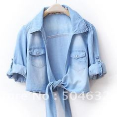 Mini Blusa Jeans Vintage - Tudo Glam - $74.99