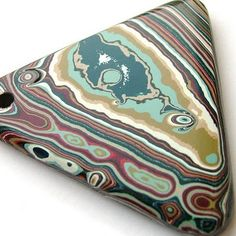 Fordite -or Detroit Agate made from car paint