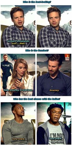 Talking nicely about Robert Downey Jr. a.k.a. Iron Man ❤❤❤❤❤