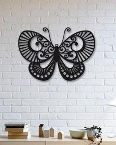 Kelebek Metal Tablo - Butterfly