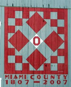 like the idea to put the year barn was built on the quilt.  ohio barn quilts - Google Search