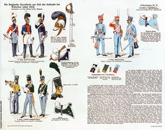 Belgian cavalry at Waterloo Nassau, Empire, Army Uniform, Military Uniforms, Army History, War Drums, Waterloo 1815, Kingdom Of The Netherlands, Napoleonic Wars