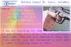 If you are searching for some of the best #lawyers for #gun charges visit http://www.winningdefenselawyer.com/. They are very empathetic about the client and his #case and transparent as well when it comes to fighting cases at court.