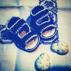 Sandaletti blu e bianchi