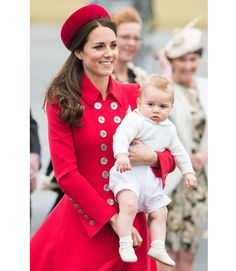 Royal Family Australia and New Zealand Tour - Kate Middleton Style and Prince George - ELLE / April 7th, 2014 http://www.elle.com/news/culture/royal-family-australia-new-zealand