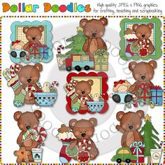 Simple Ted Christmas Clip Art Download