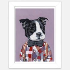 Framed Dog Print Charlie now featured on Fab.