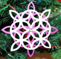 Stampin' Up! Lattice Die Ornament by Becky Jensen