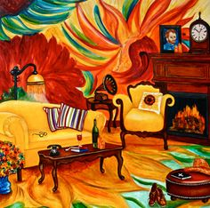 A Haven Peaceful for van Gogh Interior Still Life Art Giclee Print by k Madison Moore