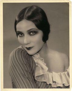 Dolores del Rio's vintage eyes.