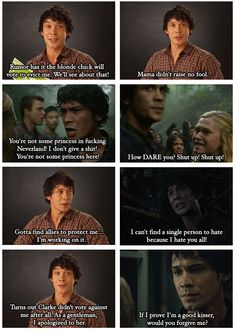 The 100 & Big Brother crossover (part2) by no-one-and-everyone (Tumblr) || Clarke Griffin (Eliza Taylor), Bellamy Blake (Bob Morley) || Bellarke