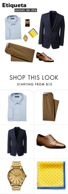 """Etiqueta coctel de día"" by arimacias on Polyvore featuring Pierre Cardin, Lands' End, Nixon, Robert Talbott, Dolce&Gabbana, men's fashion, menswear, menstyle, CocktailParty y Firgun"