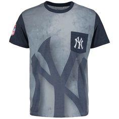 be277012452b0 MLB New York Yankees Team Pocket T-Shirt - White Navy Yankees Team