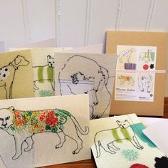 Maxine Sutton Textiles | Animal Embroidery Greeting Cards for Charity