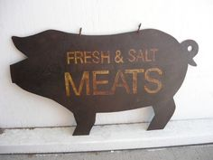 oink Vintage Wood Signs, Antique Signs, Diy Wood Signs, Rustic Signs, Wood Pig, Bbq Signs, Bakery Sign, Piggly Wiggly, Craft Images