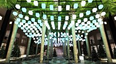 This giant canopy of glowing lanterns is sure to be a new holi...