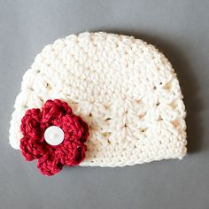 Interchangeable Flowers Lacy Shells Beanie with 3 by crochetmelly, $20.00