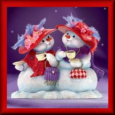 Our Friendship is Snow Delightful 2006 Ad Picture Christmas Snowman, Christmas Time, Christmas Crafts, Christmas Decorations, Christmas Ornaments, Merry Christmas, Christmas Colors, Vintage Christmas, Cafe Rico