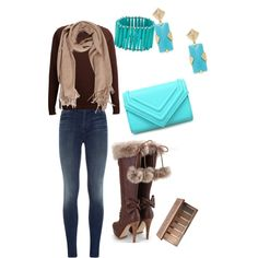 A fashion look from December 2014 featuring SELECTED sweaters, J Brand jeans and Kendra Scott earrings. Browse and shop related looks.