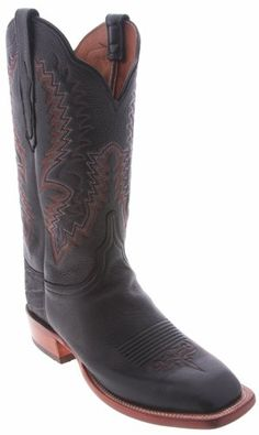 Fantastic Lucchese Cowgirl 'CY2550.W8' Elk Boots Womens - Black