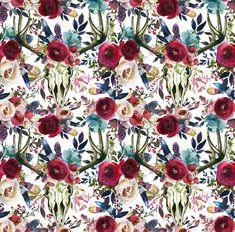 df812c32252 skull fabric cotton fabric knit fabric floral fabric boho fabric watercolor fabric  jersey fabric organic fabric western fabric longhorn