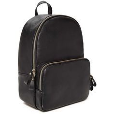 Forever21 Faux Leather Backpack (95 BRL) via Polyvore featuring bags, backpacks, forever 21, vegan leather backpack, faux leather bag, zip top bag e faux leather backpack