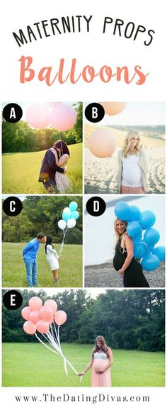 Maternity Photography Inspiration- Balloons as a Prop