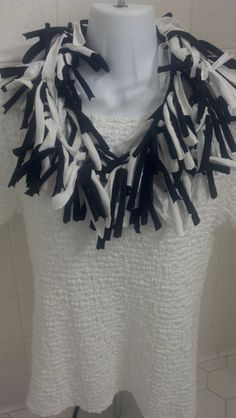 Raggy Shaggy Recycled T Shirt Scarf by LonestarFashions on Etsy, $18.00
