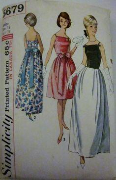 Simplicity 5679 Womens Evening Dress 1960s Pattern by Denisecraft, $8.99 love...simple elegance
